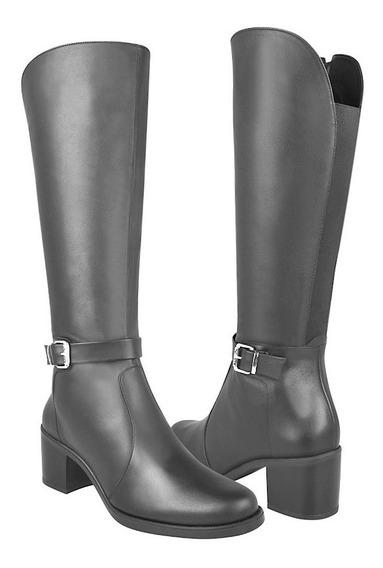 Botas De Moda Para Dama Vicenza 6160 Piel Negro