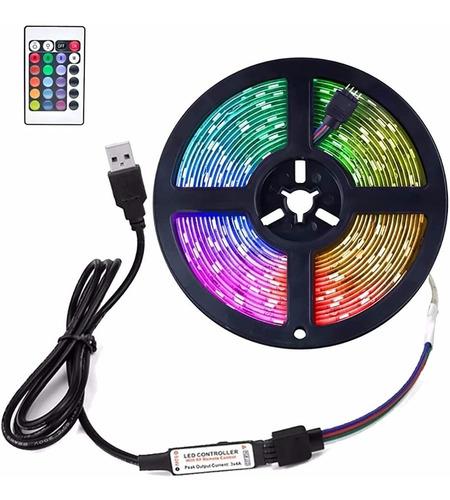 Imagen 1 de 9 de 1m-5m Led Tira De Luces 5050 Rgb Color Tv Retroiluminaci¿n.