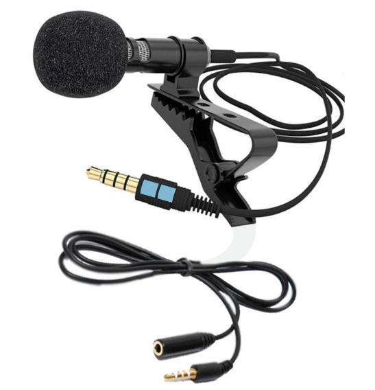 Microfone De Lapela + Extensão P/ Celular Smartfhone iPhone