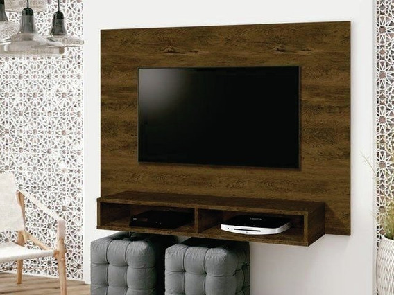 Painel Fox Para Tv Até 46 Edn Móveis - Nogal Rustico