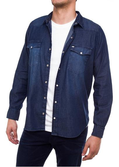 Camisa De Jean Hombre Pato Pampa Azul