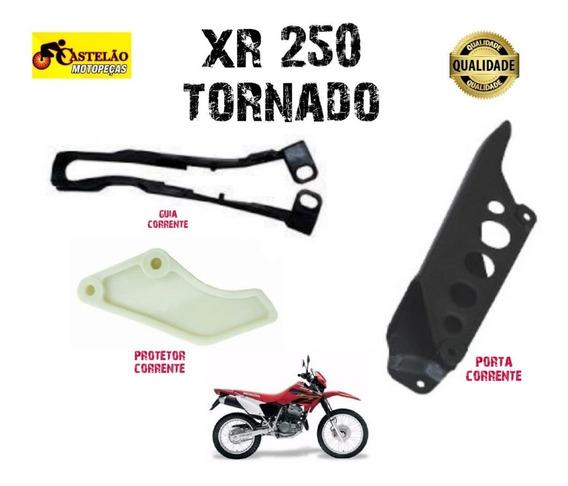 Protetor + Guia Corrente+porta Corrente Xr 250 Tornado