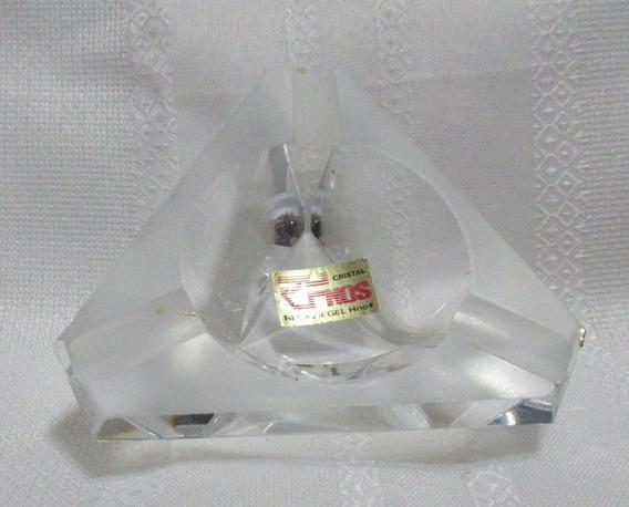 Centrito De Mesa Bowl Triangular Cristal Reckziegel Hnos