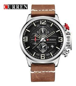 Relógio Curren 8278 Original Cronógrafo Funcional De Couro