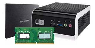 Computadora Mini Pc Cpu Celeron N4000 Brix Gigabyte Ddr4 Ram 4gb Ssd 120gb Hdmi Usb Red Wi-fi