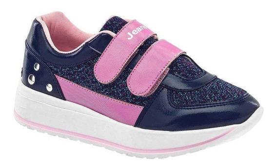 Tenis Jeans Shoes Niña 39351 Color Marino Talla 18-21