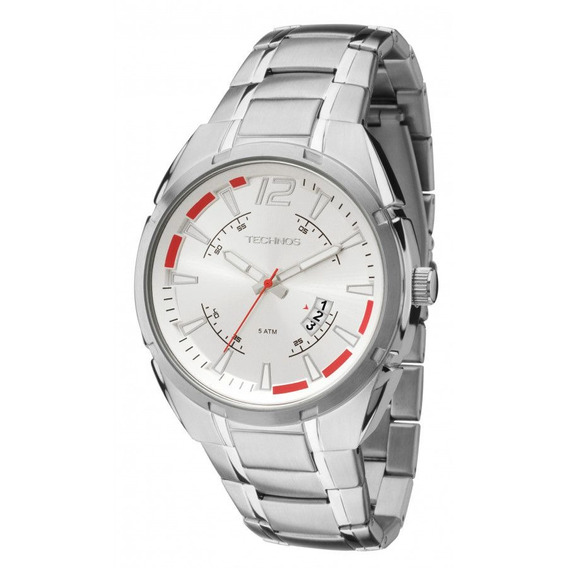 Relógio Technos Masculino Aço Prata Visor Prata 2115ktd 1k