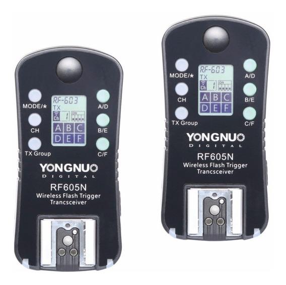 Yongnuo Rádio Flash Rf-605n Rf605 Nikon D5300, D7200, D810