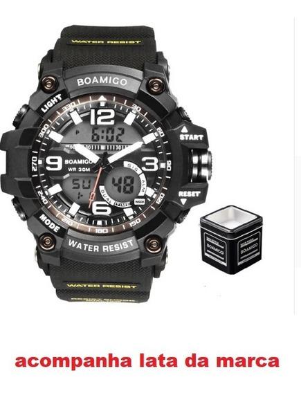 Relógio Boamigo Esportivo Masculino Militar Forte