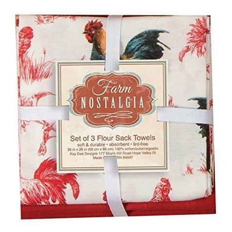 Kay Dee Designs A8326 Farm Nostalgia Harina Sack Towels Jueg