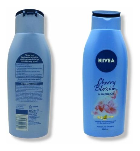 Imagen 1 de 1 de Crema Nivea Cherry Blosson & Amp Aceite De Jojoba 400 Ml