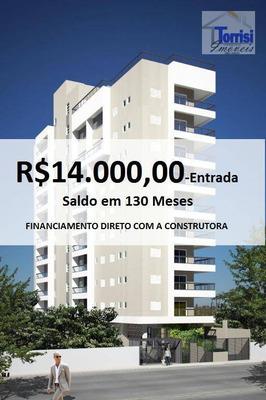 Apartamento Em Praia Grande, 01 Dormitório, Sala Com Sacada Gourmet. Prédio Com Lazer Na Ocian Ap1875 - Ap1875