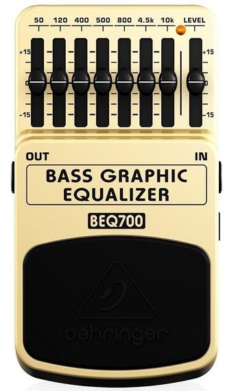 Pedal Equalizador Para Baixo Multi-efeito Behringer Beq700
