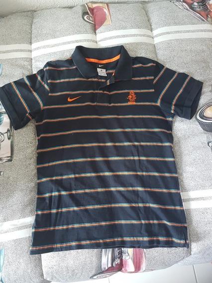 Camisa Pólo Viagem Nike Seleção Holanda, Tamanho M,usada.