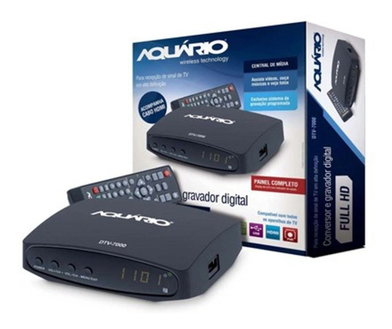 Conversor E Gravador Digital Full Hd Dtv7000s Preto Aquário
