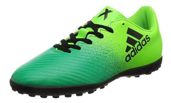 Tenis adidas Niño Verde Amarillo X 164 Tf Bb5908