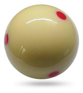 1 Pcs Branco Cue Bola De Bilhar 57.2mm 6 Red Dot Pool Cue
