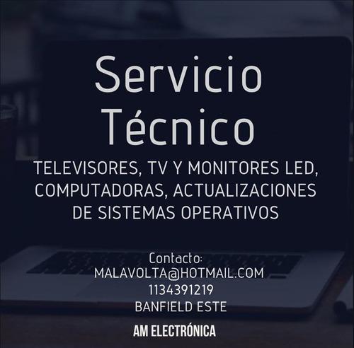 Imagen 1 de 7 de Reparaciones Tv Led -monitores -carga De Sistemas Operativos