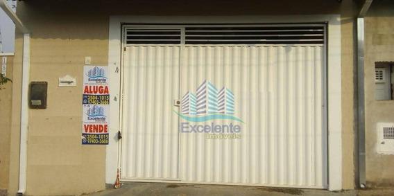 Casa Com 2 Dormitórios, 80 M² À Venda Por R$ 280.000 E Locação Por R$1.200 - Jardim Terras De Santo Antônio - Hortolândia/sp - Ca0474