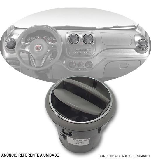 Difusor Ar Cinza Claro + Cromo Fiat Novo Palio Essence 2014