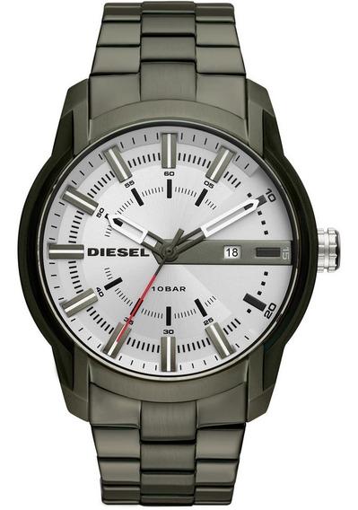 Relógio Diesel Masculino Armbar Analógico Verde Dz1853/1vn