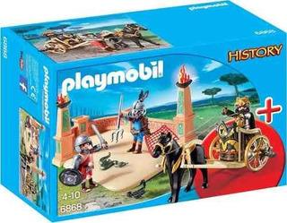 Brinquedo Playmobil Gladiadores Presente Menino Lançamento