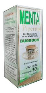 Óleo Essencial Menta Piperita 24 X 10ml - Bugroon