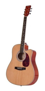 Guitarra Electroacústica Parquer Mystic Jumbo Corte Y Funda