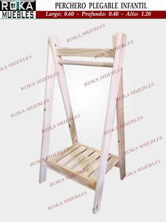 Perchero Vestidor Plegable Infantil 1 Estante Deck De 60x120