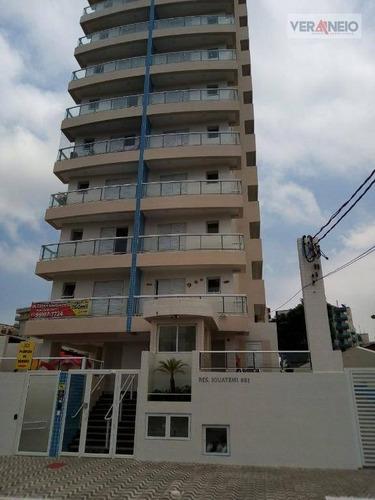 Apartamento Com 2 Dormitórios À Venda, 63 M² Por R$ 324.000,00 - Vila Guilhermina - Praia Grande/sp - Ap3782