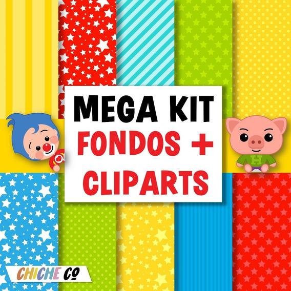 Kit Clipart Fondos Payaso Plim Plim Digitales Sin Fondo