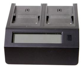 Carregador Duplo Baterias Dv Sony & Panasonic C/ Lcd - Novo!