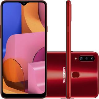 Celular Samsung Galaxy A-20-s 32gb Dual Vermelho