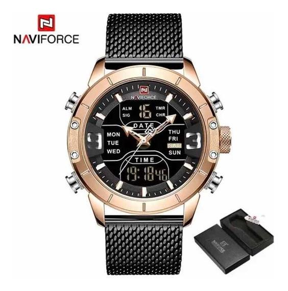 Lançamento Relógio Naviforce Nf9153 A Prova De Água Prt Entr
