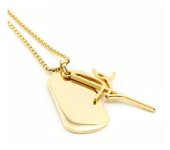 Colar Corrente Fé Chapinha Aço Inoxidável Banhado Ouro 18 K