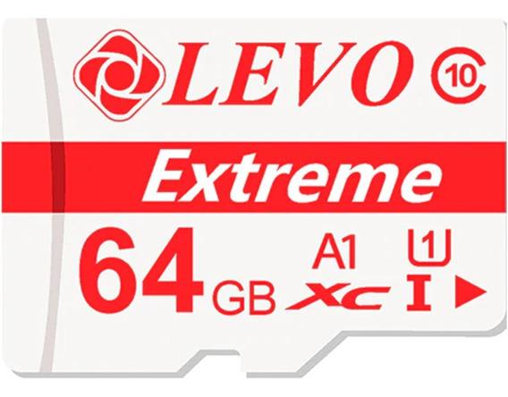 Cartão De Memória Micro Sd 64gb Classe 10/a1/xc Levo Extreme