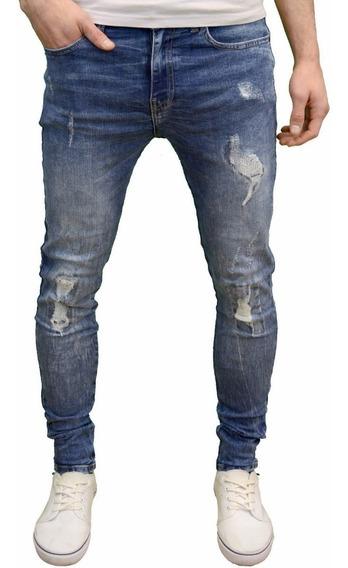 Lote De 3 Jeans Corte Skinny Moda Urbana Trap Envió Gratis