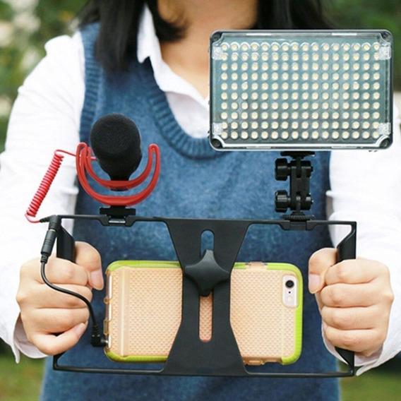 Kit Stedicam Celular Com Led 198 Iluminador Pronta Entrega!