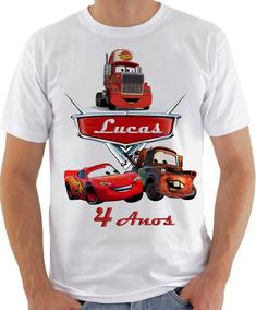 Camiseta Infantil Masculina Feminina Aniverssario Carros1040