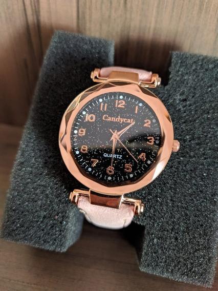 Relógios Feminino De Pulso Rose Quartzo Moda Feminina