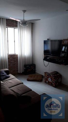 Apartamento Com 2 Dormitórios À Venda, 68 M² Por R$ 210.000,00 - Saboó - Santos/sp - Ap3757