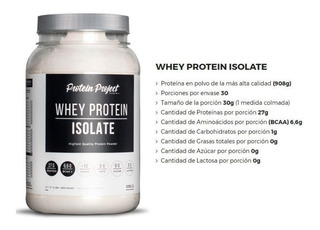 Protein Project Isolate 2 Lbs Sin Lactosa Sin Grasa (rosario