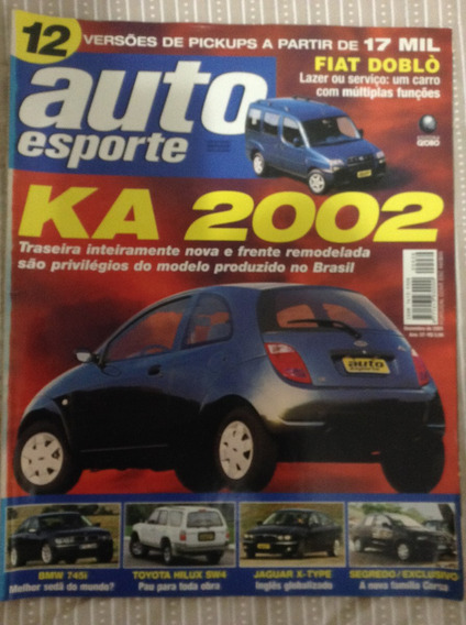 Revista Auto Esporte Dez 2001 439 Corsa Ka Celta Toyota Sw4