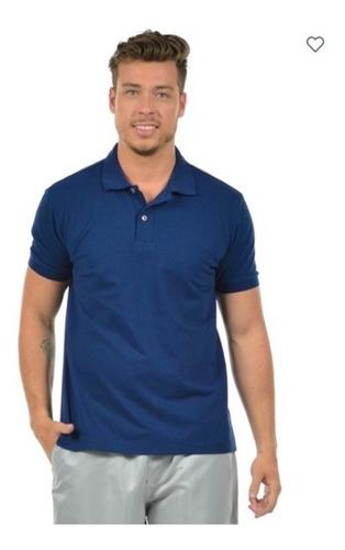 Imagem 1 de 2 de 4 Camisas Polo Piquet Masculina 27252 Algodão Confortável