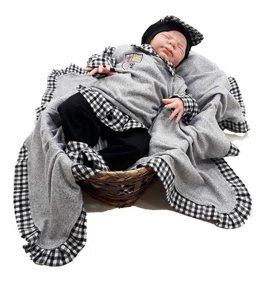Saída De Maternidade Pulover Luxo Malha Trico - Frete Grátis
