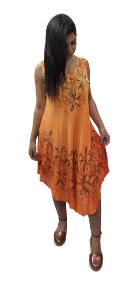 Vestido Trapézio Plus Size Indiano Moda Boho Estampado 195