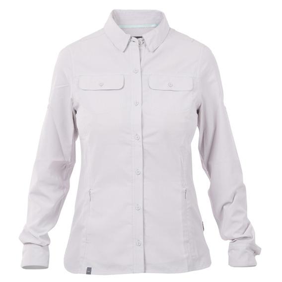 Camisa Mujer Rosselot Long Sleeve Shirt Gris Lippi