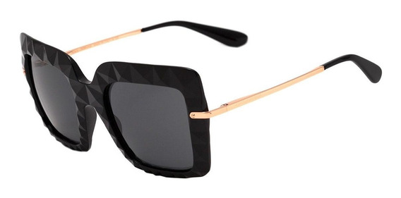 Dolce & Gabbana Dg 6111 - Óculos De Sol 501/87 Preto E Doura