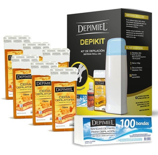 Kit Depilacion Depimiel Depikit+ 6 Cera Roll On+ 100 Bandas