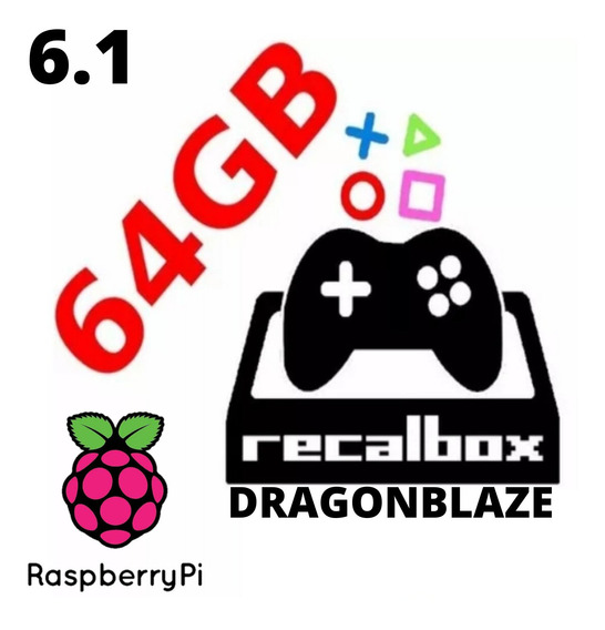 Imagem Recalbox 6.1 + 12.000 Jogos P/ Raspberry Pi3 B/b+